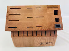 Cutco Signature Set 24 Slot Wood Knife Block Storage Block Made In USA Read!!