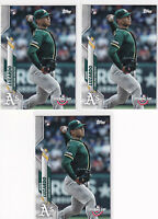 LOT (5) JESUS LUZARDO OAKLAND ATHLETICS - 2020 TOPPS OPENING DAY RC - Y3103