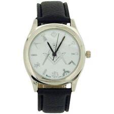 Weiße Armbanduhren mit Kunstleder-Armband