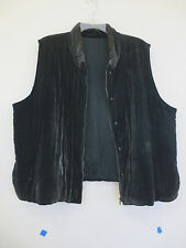 Velvet Vest, Silk Lining, Dark Forest Green, fits to 2X