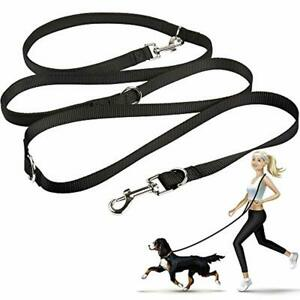 oneisall Hands Free Dog Leash,Multifunctional Dog Training Leads,8ft Nylon Doubl