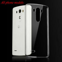 Clear Transparent Crystal Soft TPU Silicone Gel Cover Case Skin For Smart Phone