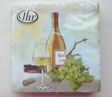 Ihr - Servietten ♥ A Good Wine ♥ Wein Chardonnay  Ideal Home Range  25 x 25cm
