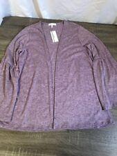 NWT Honey Peace Lavender Cardigan Thin Sweater Size Medium