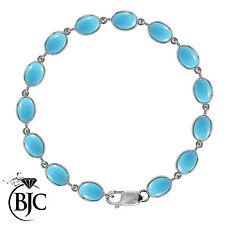 Turquoise Not Enhanced Sterling Silver Fine Bracelets
