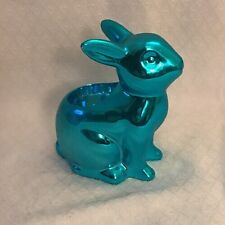 YANKEE CANDLE EASTER SPRINGS TEAL BUNNY TEA LIGHT HOLDER NEW IN BOX~EASTER 2017