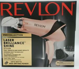 Revlon Pro Collection Laser Brilliance Shine Styler Hair Dryer Pink RVDR5263