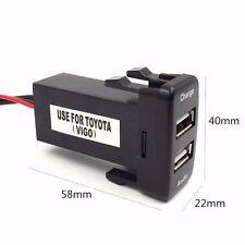 Fit Toyota Dual USB Audio and Charger Port Led  Prado 120 Hilux LC100 FJ Cruiser