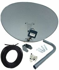Sky 80cm Zone 2 Freesat Satellite Dish & MK4 Quad LNB + 10m Black Single RG6 Kit