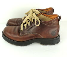 Timberland Smart Boots Chukka Brown Leather Mens 9 Work Hiking Desert