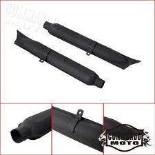 Steel Retro Fishtail Type Muffler Rear Slip-On Exhaust Pipes For BMW K750 R71 M1