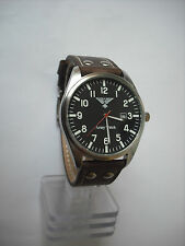 Fliegeruhr,Herrenuhr,Air-Craft, Army Watch, Vintage Band,NEU,OVP,