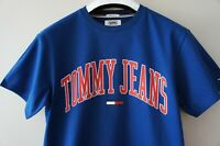 Large - TOMMY JEANS Men's Blue Collegiate Logo 90'S T-shirt TOMMY HILFIGER Tee