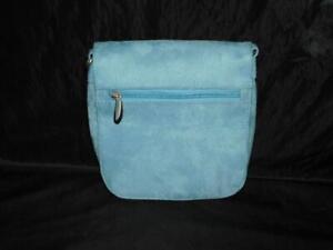 Travelon Light Blue Faux Suede Travel Purse Crossbody Bag NEW Card ID Slots Sm