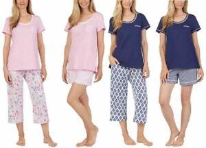 PXL Carole Hochman Petite Floral Blossoms Cotton Jersey 3 pc Pajama Set PL