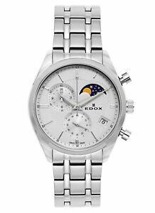 Edox Les Vauberts Chronograph Mondphase Datum Quarz 01655 3M AIN