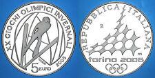 5 EURO 2005 OLIMPIADI DI TORINO SALTO SCI ITALIA ITALY ARGENTO SILVER #6860A