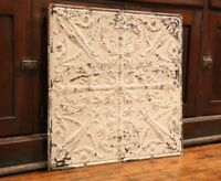 """Antique Metal Tin Ceiling Tile 24""""X24"""" shabby chic gothic Torch Reclaim Salvage"""