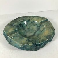VINTAGE ONYX STONE ASHTRAY - SMOKING ROOM - NICE COLLECTABLE PIECE <HM07 (T41)