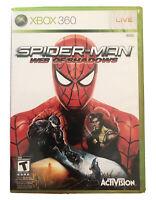Spider-Man: Web of Shadows Xbox 360 Game Rare Marvel Collectible Venom Wolverine