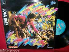 JOAN BAEZ rare Promo only LP ITALY Unique Laminated Art Cover MINT