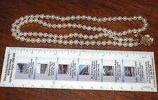 Vintage Salt Water Pearl Necklace w/14K Y Gold Diamond Clasp
