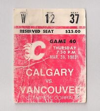 Final Regular Season Game at STAMPEDE CORRAL Calgary Flames vs Canucks 3/31/83