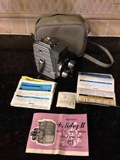 Vintage 8mm Movie Camera Holiday II Turret Mansfield Industries Case Untested
