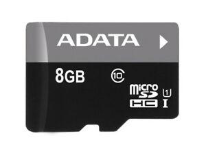 ADATA 8GB Micro SDHC Class 10 Memory Card with regular adapter