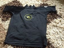 BOYS BLACK RIP CURL TOP SIZE 8