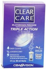 6 Pack Clear Care Cleaning & Disinfection Solution Travel Pack 3 fl oz (90 mL)