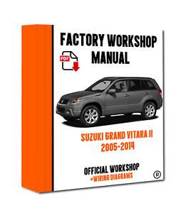 OFFICIAL WORKSHOP Manual Service Repair Suzuki Grand Vitara 2005 - 2014