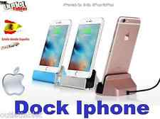 SOPORTE DOCK CARGA SOBREMESA PARA SMARTPHONE Apple Iphone 5/6/6S/SE/7