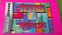 Tetris Worlds -  Nintendo Game Boy Advance Instruction MANUAL ONLY No Game
