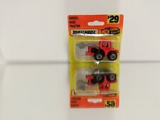 Matchbox shovel nose tractor #29 On CARD BLISTER  1996 in the coler red
