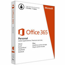 Microsoft Office 365 Personal (Retail) (1) - Full Version for Windows/Mac (QQ200035)