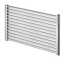 Chrome Heated Towel Rails Horizontal Bathroom Warmer Extra Wide Modern Radiator