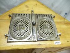 9692. Paar alte Biedermeier Ofentüren Ofentür Ofen Tür Gusseisen