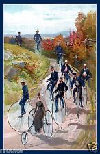 Big Wheel Bicycles Velocipede Penny Farthing Fine Art Print / Poster