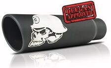 "61-1046  Metal Mulisha Skull Black Ceramic Exhaust Tip Inlet 2.25""-2.50"" Out 5"""