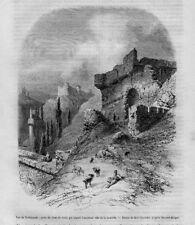 Stampa antica TREBISONDA o Trabzon Turchia Turkey 1856 Old Print