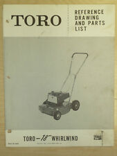 "TORO MOWER OPERATING PARTS MANUAL MODEL WHIRLWIND 18"" SN. 21118 - 5000 & UP"