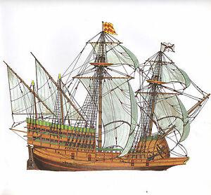 Vintage Historische Segelschiff Aufdruck Spanische Oder Flämisch Bewaffnete