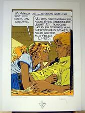 Francq serigraphie Largo Winch et Juliet 199 ex signe