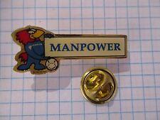 PINS MANPOWER TEMPORARY WORK COCK COQ FOOTBALL FRANCE 98 SOCCER m1
