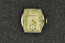 VINTAGE MEN'S BULOVA WRIST WATCH MOVEMENT CAL 10BC - RUNNING