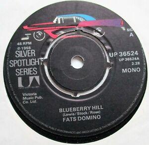 FATS DOMINO  BLUEBERRY HILL** IT KEEKS RAININ' United Artists Silver Spotlight