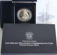 2000 P Leif Ericson Millennium Iceland Commemorative PF Silver Coin 1000 Kronur