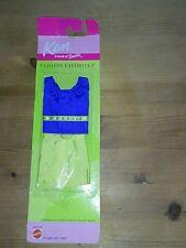 Barbie-Ken Estate Cotone Nuovo di Zecca Set di vestiti Top Blu Giallo Pantaloncini Regalo