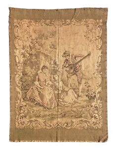 A Large & Rare Antique French Aubusson Style Wall Tapestry-Verdure 172 x 125 cm